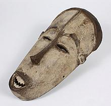 LARGE CARVED WOOD FANG MASK - From Gabon, Cameroon, and Equatorial Guinea