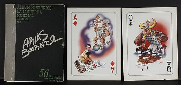 ANTONIO ARIAS BERNAL (1914-1960, Mexico) PLAYING CARD MASTERS, LITHOGRAPHS ON PAPER