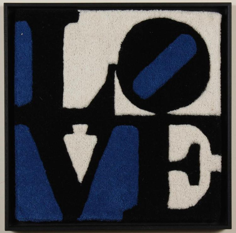 ROBERT INDIANA: YARN AND FABRIC ON BOARD -