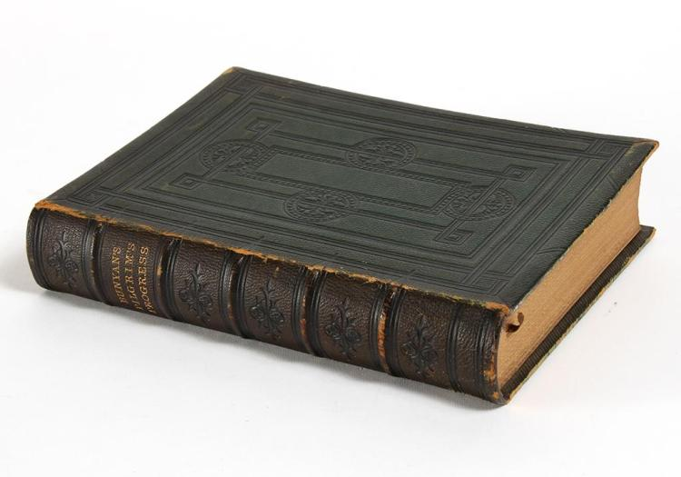 PILGRIM''S PROGRESS 1861 NEW EDITION GILT AND GAUFFERED - John Bunyan''s