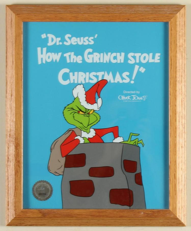 CHUCK JONES (1912-2002, CA) - HOW THE GRINCH STOLE CHRISTMAS - Sericel advertising the movie form of  Dr
