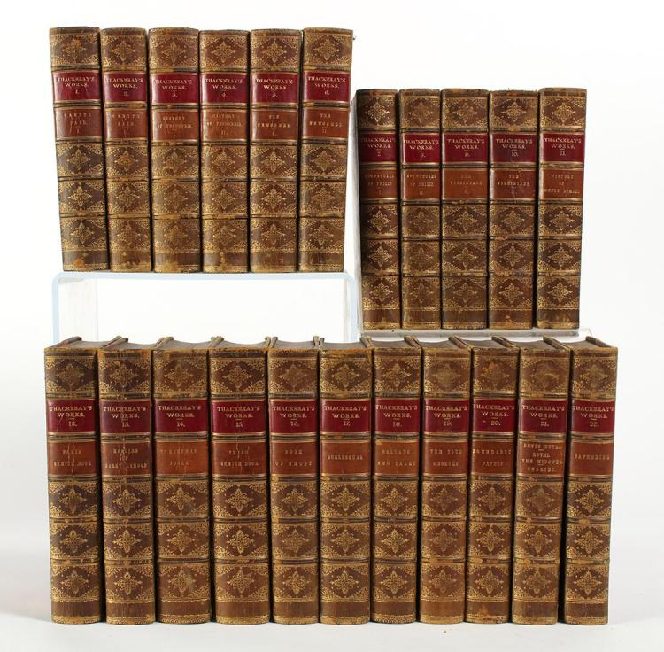 1869 W. M. THACKERAY''S WORKS 22 VOLUME SET - A 22 volume set of novels and short stories by the great English writer William Makepea..