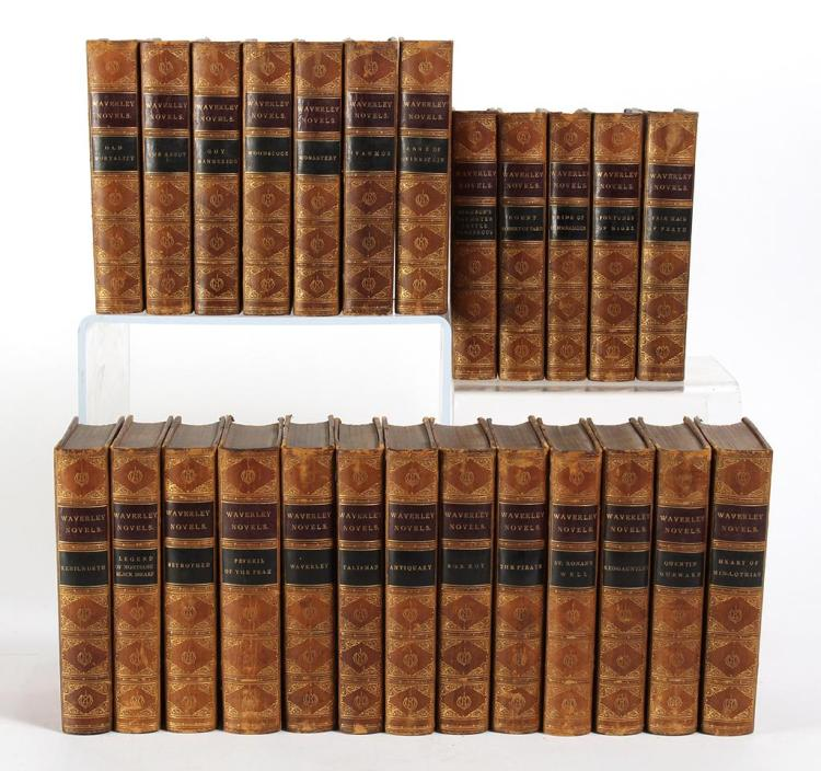 1871 SET OF 25 WAVERLEY NOVELS BY SIR WALTER SCOTT CENTENARY EDITION - 25 installments of the acclaimed Waverley Novels by Sir Walte...