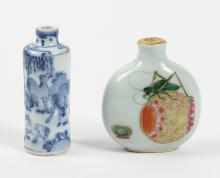 TWO PORCELAIN SNUFF BOTTLES - Chinese