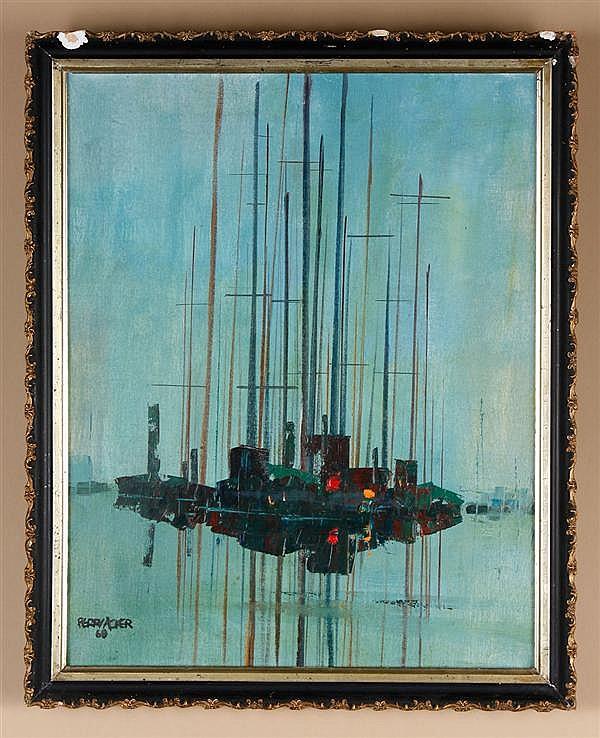 Perry Acker (1903-1989, Washington) oil on canvas
