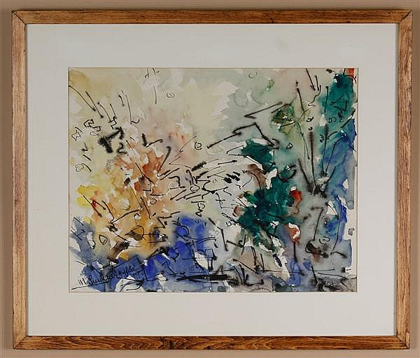 Manfred Lindenberger (1914-2008, Washington) watercolor on paper