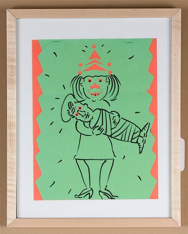 Patti Warashina ink and paper collage