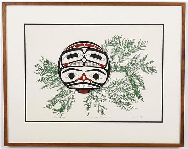 DAVID BOXLEY (1952- , AK) SILKSCREEN ON PAPER - Pencil signed