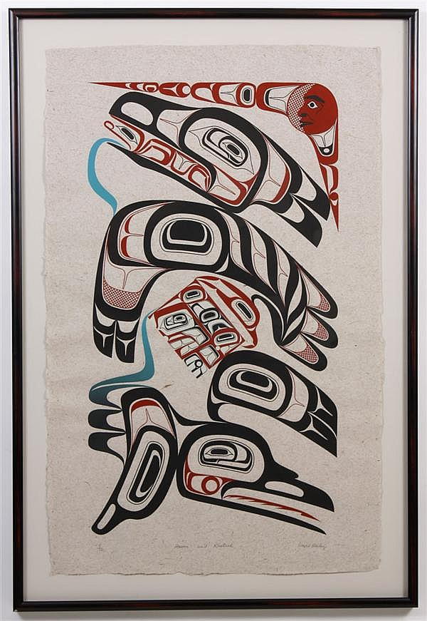 DAVID BOXLEY (1952- , AK) SILKSCREEN ON PAPER - Signed in pencil and numbered 5/70