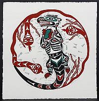 """PATRICK AMOS (1957- , Canada) SERIGRAPH ON ARCHES PAPER - Pencil signed and numbered, 68/99. Titled """"Sea Otter,"""" depicting otter wit..."""
