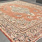 CARPET: HANDWOVEN ANTIQUE PERSIAN MAHAL - Wool on a cotton warp with red field, large central floral medallion surrounded by multiple..