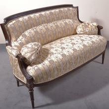 PARLOR SETTEE - Antique Louis XVI style, with