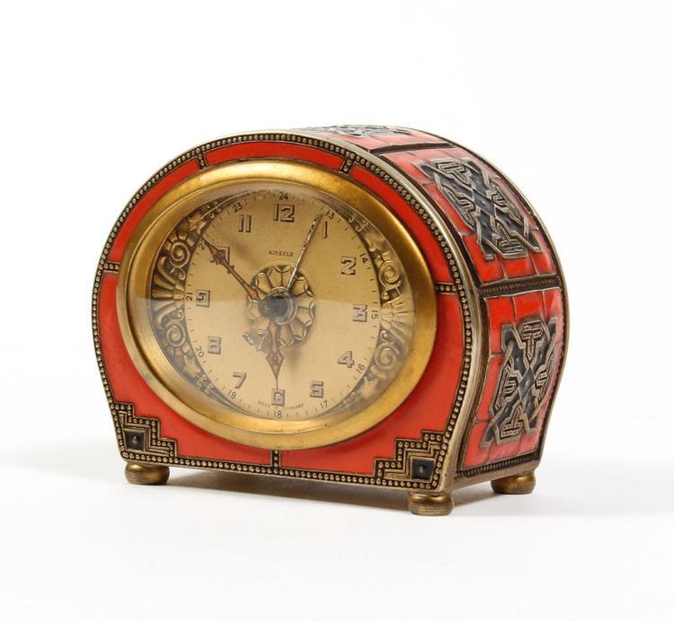 Kienzle luxury designer alarm clock art deco style with in for Designer alarm clock