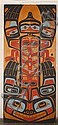 PAINTED CEDAR FORMLINE DOOR - By Don Lelooska (1933-1996, Washington) - One of two available; originally from the Lelooska Cultural ..., Ariel Estivill, Click for value
