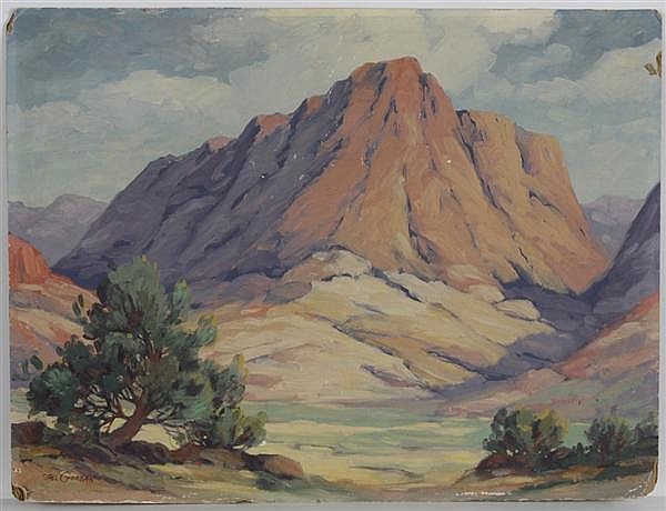 TILLMAN PARKER GOODAN (1896-1958, California) OIL ON CANVAS BOARD - Signed
