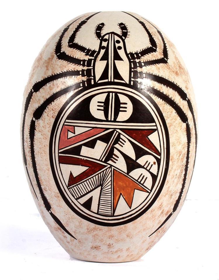 Bural Naha B 1944 Hopi Tribe Az Spider Egg Ceramic Work