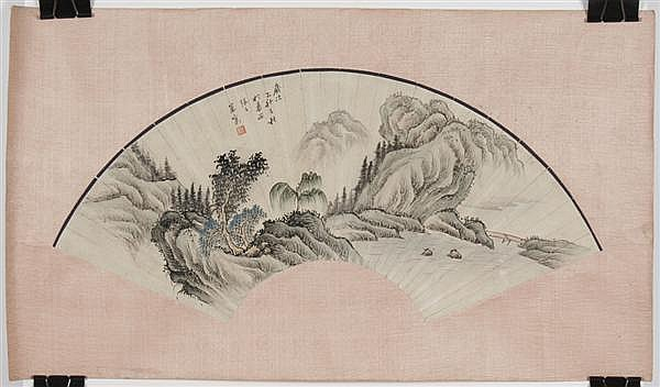 ZHANG ZHIWAN (1811-1897, China) MIXED-MEDIA ON PAPER - Signed with the artist's seal, attributed to Zhiwan - Four watercolor and ink..