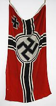 WWII GERMAN KRIEGS BATTLE FLAG - Double sided and maker marked