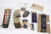 GROUP OF EARLY 20TH CENTURY LAPEL MEDALS - 9 assorted items including several radio press pins and event badges from early 20th cent...