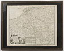 ROBERT de VAUGONDY GILLES MAP - Hand-colored engraving on paper.