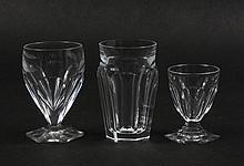 TWENTY-FOUR ST LOUIS HARTCOURT LIQUEUR GLASSES - Lot of 14 short-stemmed handcrafted, full lead crystal glasses, made in France (thr...