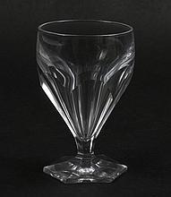 FOURTEEN WHITE WINE ST LOUIS HARTCOURT GLASSES - Fourteen small wine glasses on hexagonal base, handcrafted; full lead crystal; made...