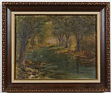 SIGNED OIL PAINTING ON PAPERBOARD - Signed