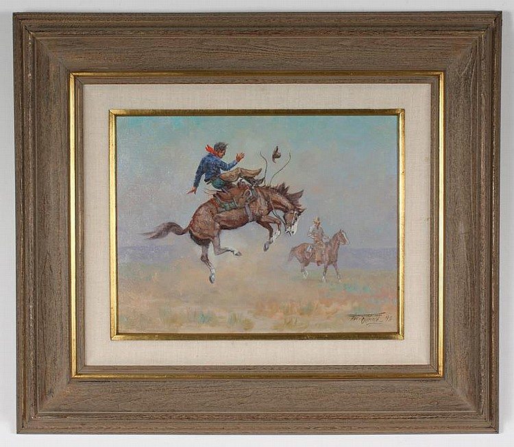 FRED OLDFIELD OIL PAINTING