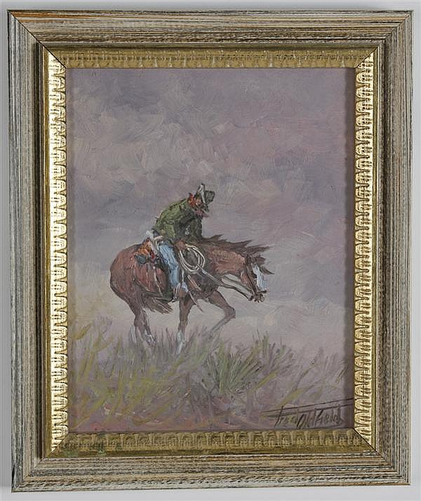 FRED OLDFIELD (1918- , WA) ACRYLIC ON CANVAS BOARD - Signed painting titled