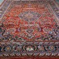 CARPET: HAND-KNOTTED PERSIAN MESHED - Wool on a cotton warp with red field
