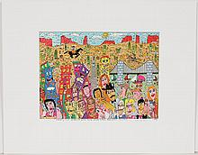 JAMES RIZZI (1950-2011, NY) PRINT ON PAPER -