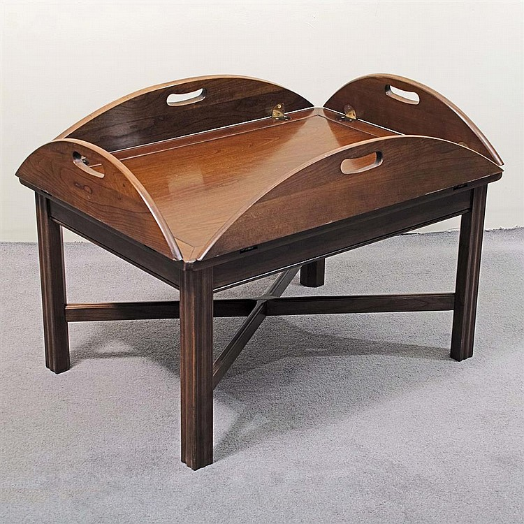 Coffee Table Vintage Butler Style Maple Manufactured By