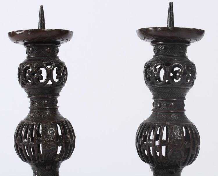 Japanese temple candlesticks