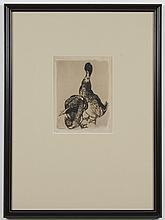 THOMAS HANDFORTH (1897-1948, WA) ETCHING ON PAPER - Pencil signed, lower right and numbered 22/50