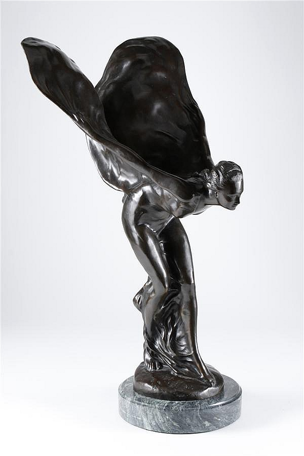 CHARLES R. SYKES (1882-1942, England) BRONZE FEMALE FIGURE WITH WINGS - Entitled