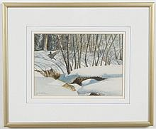 EUGENE JUHLIN (Utah) WATERCOLOR PAINTING ON PAPER - Signed, titled