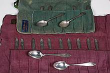 TWO SETS STERLING SILVER DEMITASSE SPOONS - Six spoons are marked
