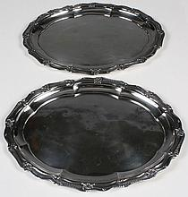 TWO HOTEL GORHAM SILVERPLATE PLATTERS - From the famous