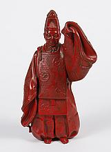 JAPANESE CAST IRON FIGURE - Hollow cast figure possibly portraying Emperor Hirohito of Japan upon his ascension to throne at age 27 ...