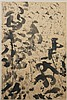 MARK TOBEY (1890-1976, WA/NY) INK COMPOSITION - Signed, and dated lower right