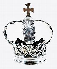 Late 18th/19th century, silver crown for a sculpture of a saint, Grasse duchy, Savoy, Italy.