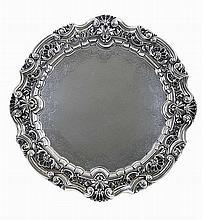 20th century Portuguese silver salver.