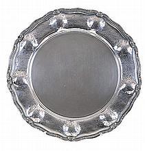 Portuguese 20th century silver salver.