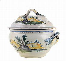 Portuguese faience tureen, 18th/19th century.