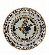 Portuguese faience dish, 18th/169th century.