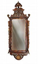 Mirror, 'D. José' style, carved and painted wood frame.