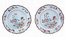 Chinese porcelain, pair of plates, 18th century.