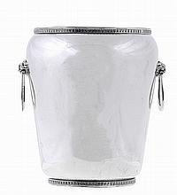 European silver ice pail, 20th century.