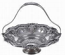 Portuguese silver basket, 19/20th century.