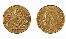 Gold pound coin, George V, 1925.
